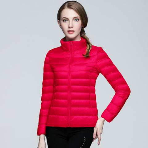 Women Ultra Light Down Jacket Hooded Winter Duck Down Jackets Women Slim Long Sleeve Parka Zipper Coats 2016 Pockets Solid - Dollar Bargains - 7