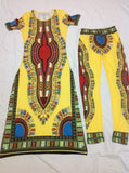 2016 Summer Wome Traditional African fashion With Side Split Long Dress And Women Traditional African fashion Leggings 2pcs Sets - Dollar Bargains - 2