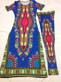 2016 Summer Wome Traditional African fashion With Side Split Long Dress And Women Traditional African fashion Leggings 2pcs Sets - Dollar Bargains - 3