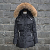 TOP Quality Large Real Fur 2016 Winter Jacket Women Raccoon Fur Collar Hooded Thick Down Coat For Women Winter Parka - Dollar Bargains - 3
