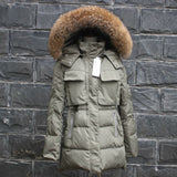 TOP Quality Large Real Fur 2016 Winter Jacket Women Raccoon Fur Collar Hooded Thick Down Coat For Women Winter Parka - Dollar Bargains - 6