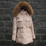 TOP Quality Large Real Fur 2016 Winter Jacket Women Raccoon Fur Collar Hooded Thick Down Coat For Women Winter Parka - Dollar Bargains - 4