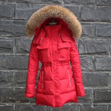 TOP Quality Large Real Fur 2016 Winter Jacket Women Raccoon Fur Collar Hooded Thick Down Coat For Women Winter Parka - Dollar Bargains - 5