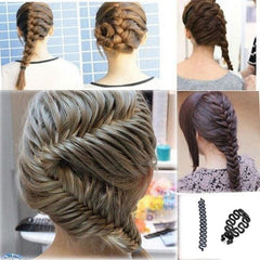 1 PC Women Lady French Hair Braiding Tool Braider Roller Hook With Magic Hair Twist Styling Bun Maker Hair Band Accessories-Dollar Bargains Online Shopping Australia