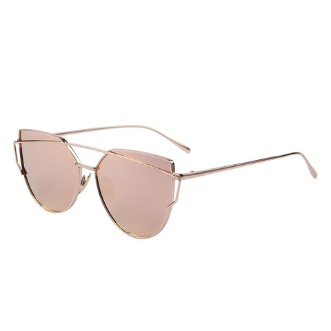 MERRY'S Fashion Women Cat Eye Sunglasses Classic Brand Designer Twin-Beams Sunglasses Coating Mirror Flat Panel Lens S'7882 - Dollar Bargains - 7