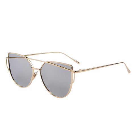 MERRY'S Fashion Women Cat Eye Sunglasses Classic Brand Designer Twin-Beams Sunglasses Coating Mirror Flat Panel Lens S'7882 - Dollar Bargains - 6