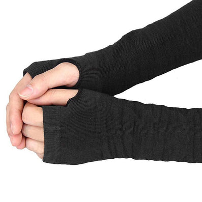 Practical Design Winter Wrist Arm Hand Warmer Knitted Long Fingerless Gloves Mitten For Women &-Dollar Bargains Online Shopping Australia