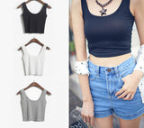 Sexy Crop Top Cropped Vintage Tops Tank Bustier Tanks Sleeveless Vest Women's Shirt Camisole 7 Colors-Dollar Bargains Online Shopping Australia