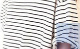 New Summer T Shirt Women All-match Basic Tee Shirt Femme Female Top Young Girl Stripe Loose Half Sleeve HARAJUKU T-shirts-Dollar Bargains Online Shopping Australia
