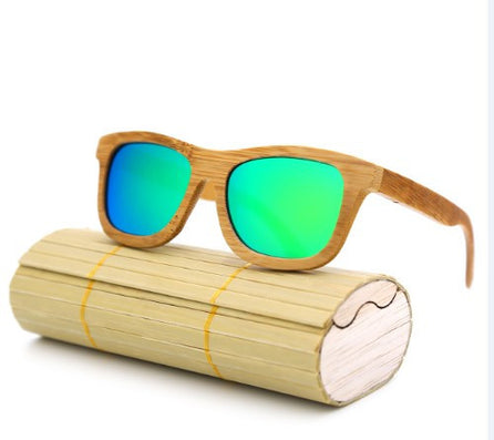 fashion Products Men Women Glass Bamboo Sunglasses au Retro Vintage Wood Lens Wooden Frame Handmade-Dollar Bargains Online Shopping Australia