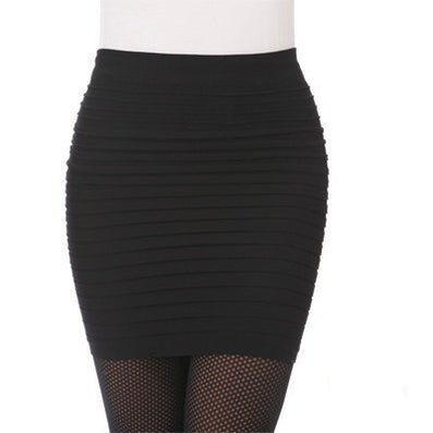 Fashion Summer Women Skirts High Waist Candy Color Plus Size Elastic Pleated Short Skirt 49851-Dollar Bargains Online Shopping Australia