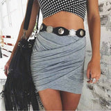 Street Fashion Women Lady High Waist Short Skirt Sexy Bandage Bodycon Cross Fold Pencil Skirts 5 Colors-Dollar Bargains Online Shopping Australia