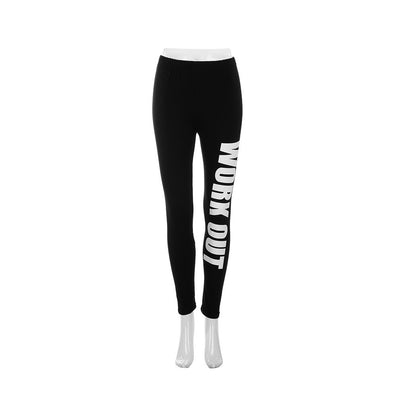 Women Workout Leggings Elastic Comfortable Stretch Slim Legging Workout Pants Trousers Leggins-Dollar Bargains Online Shopping Australia