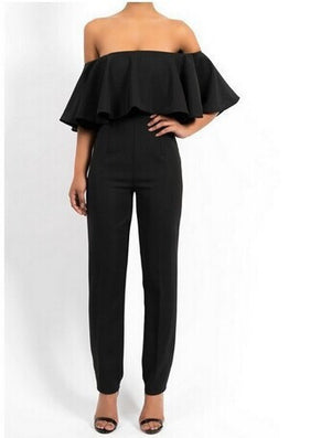Arrival Ruffles Regular Fashion Sexy Brooke Jumpsuit And Color Rompers Strapless Wave Piece Pants Ce6320-Dollar Bargains Online Shopping Australia