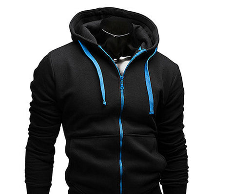 fashion Sweatshirt men hit color men hoodies hip hop side zipper mensports suit slim-Dollar Bargains Online Shopping Australia