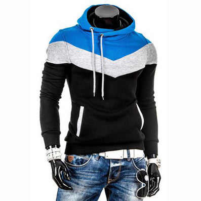 Autumn Slim Hoodies Men Sweatshirt Long Sleeve Pullover Hooded Sportswear Male Patchwork Fleece Tracksuit-Dollar Bargains Online Shopping Australia