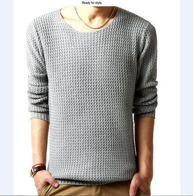 Relaxed-fit sweater pullover male winter knitting brand long sleeve with v-neck fitted sweater jersey size M-XXL-Dollar Bargains Online Shopping Australia