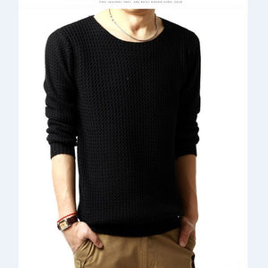 Relaxed-fit sweater pullover male winter knitting brand long sleeve with v-neck fitted sweater jersey size M-XXL - Dollar Bargains - 2