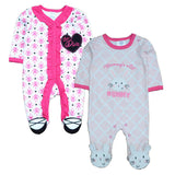 2 Pcs/lot Newborn Baby Girl Clothes 100%Cotton Baby Girl Boy Romper Cotton Long Sleeve Unisex Infant Clothing-Dollar Bargains Online Shopping Australia
