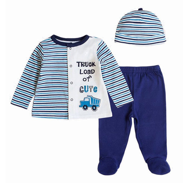 b5e28532d Baby's Sets Boy Girl Clothes With Baby Cap 100%Cotton Long Sleeve Newborn  Clothing