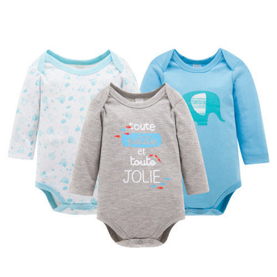 3pcs/Lot Thick Cotton Baby Rompers Summer Long Sleeve Baby Wear Infant Jumpsuit Boys Girls Clothes-Dollar Bargains Online Shopping Australia