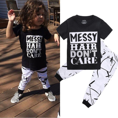 Newest Baby Girls Clothes Letter Printed Shirts + Pants Baby Girls Clothing Cotton Cheaper Infant Clothing For Newborn Clothes-Dollar Bargains Online Shopping Australia