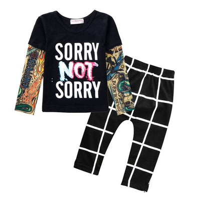 Sun Moon Kids Newborn Baby Girl Clothes Casual Baby Clothing Sets T-Shirt + Pants Kids Autumn Outfits Baby Boy Clothes-Dollar Bargains Online Shopping Australia