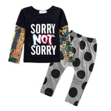 Sun Moon Kids born Baby Girl Clothes Casual Baby Clothing Sets T-Shirt + Pants Kids Autumn Outfits Baby Boy Clothes-Dollar Bargains Online Shopping Australia