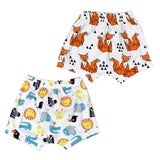 2Pcs/Lot Cute Cartoon Animal Fox Panda Pattern Baby Short For Infants Clothing Girls Boys Harem PP Shorts Pants Toddler Bloomers-Dollar Bargains Online Shopping Australia