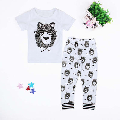 Summer Clothing Sets Born Baby Boys Girls Kids T-shirts+ Pants Cartoon Kids Clothes Children Infantil Menino-Dollar Bargains Online Shopping Australia