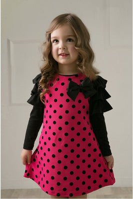 New spring dot girls' dresses, children's clothes, children's princess gauze clothes, girl dress-Dollar Bargains Online Shopping Australia