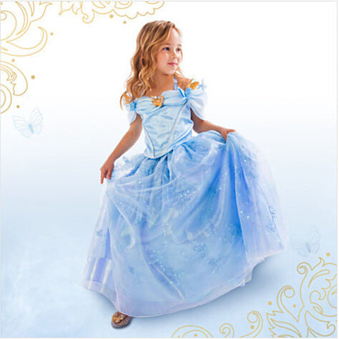 2017 New baby girls Dress Cinderella Cosplay Costume Party Dress Princess Dress Cinderella Costume - Dollar Bargains - 1