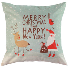 orthopedic pillow Christmas Throw Home Decor Cotton Linen Fox Pillow Case Cushion Cover Vintage VBB01 P0.5-Dollar Bargains Online Shopping Australia