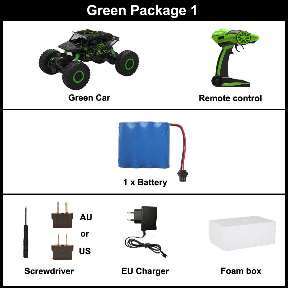 Green Package 1 / ChinaRC Car 2.4G 4CH 4WD Rock Crawlers 4x4 Driving Car Double Motors Drive Bigfoot Car Remote Control Car Model Off-Road Vehicle Toy
