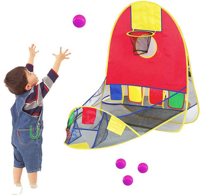 Ball Tent Play House Basketball Basket Tent Ocean Ball Pool Outdoor Indoors Sport Kids Toys Beach Lawn Play Tent Scoring - Dollar Bargains