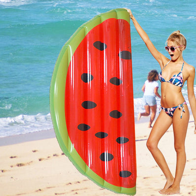 180*90cm Water Toys Inflatable Half Mattress Watermelon for Summer Holiday Inflatable Swimming Pool Party Favor Air Mattress-Dollar Bargains Online Shopping Australia