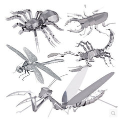 Creative 3D metal puzzles miniature jigsaw puzzles DIY metal jigsaw puzzle animals rhinoceros beetle toys for children-Dollar Bargains Online Shopping Australia