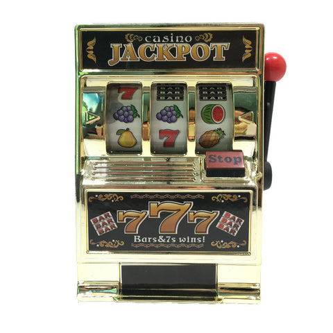 Free Shipping  1Piece Mini Casino Jackpot Fruit Slot Machine Moneybox Game Toy For Kids - Dollar Bargains