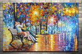 Large Handpainted Lover Rain Street Tree Lamp Landscape Oil Painting On Canvas Wall Art Wall Pictures For Living Room Home Decor Unframed-Dollar Bargains Online Shopping Australia