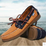 2016 British Style Fashion Men Boat Shoes Spring Autumn Youth Lace Up Casual Comfortable Flat Men Shoes Round Toe Men Shoes - Dollar Bargains - 6