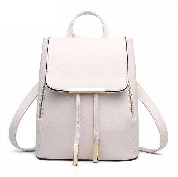 Women Backpack High Quality PU Leather Mochila Escolar School Bags For Teenagers  Girls Top-handle d549daa1a1a2d