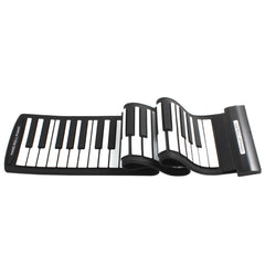 Black+White Flexible 61Keys Professional MIDI Keyboard Electronic Roll Up Piano for Children-Dollar Bargains Online Shopping Australia