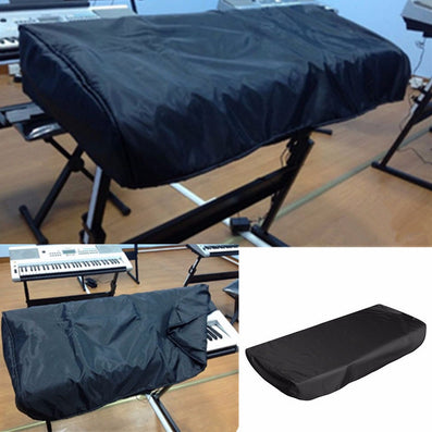 1pc Black Piano Dustproof Lamination Cloth Piano Keyboard Dust Sheet Cleaning Cloth For 61-Key Electronic Piano Cover - Dollar Bargains