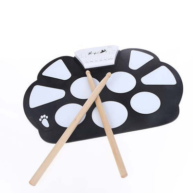 Professional Roll up Drum Pad Kit Silicon Foldable with Stick Portable Drum Electronic Drum USB Drum-Dollar Bargains Online Shopping Australia