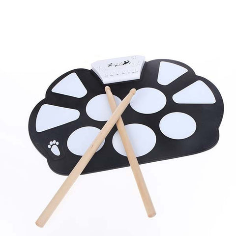 New Professional Roll up Drum Pad Kit Silicon Foldable with Stick Portable Drum Electronic Drum USB Drum - Dollar Bargains