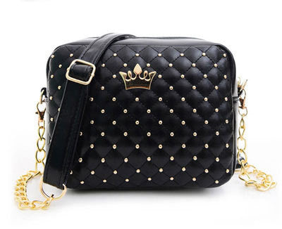 58988d650d47 Women Bag Fashion Women Messenger Bags Rivet Chain Shoulder Bag High  Quality PU Leather Crossbody N0310