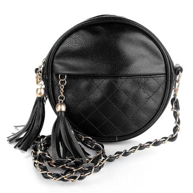 New tassel chain small women bags fashion designer girls messenger bag brand leather crossbody bags candy colors ladies handbag-Dollar Bargains Online Shopping Australia