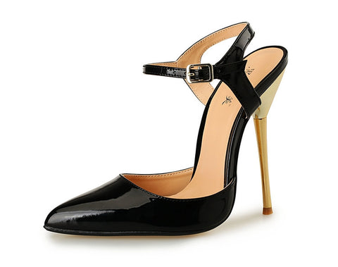 2016 Black Stilettos Women Pumps Wedding Shoes High Heel Pumps Quality Ladies Pumps Fashion Sex Pointed Toe Party Wedding Shoes - Dollar Bargains - 4