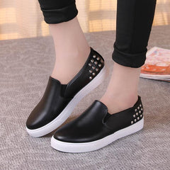 Spring Autumn Women Leather shoes For Woman Black Loafers snakeskin shoes slip on Loafer Casual Shoes-Dollar Bargains Online Shopping Australia