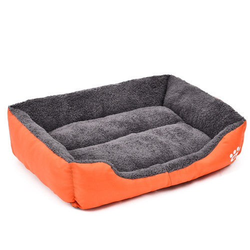 Orange / LPet Dog Bed Warming Dog House Soft Material Pet Nest Candy Colored Dog Fall and Winter Warm Nest Kennel For Cat Puppy 5 Colors
